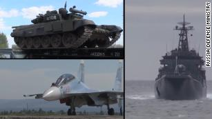 Russia rolls out military might in huge war games
