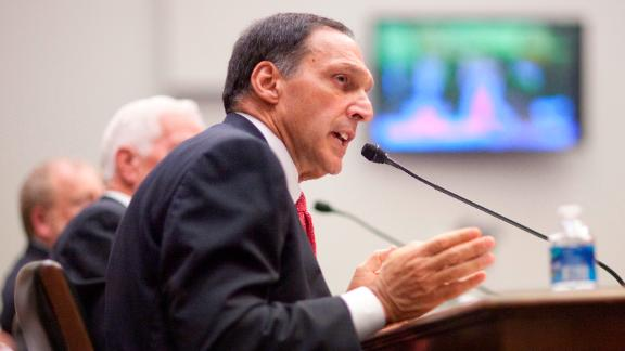 Richard  Fuld, former chairman and chief executive officer of Lehman Brothers, speaks during a hearing in 2010.