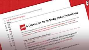 A checklist of what to do -- and pack -- when a hurricane's coming