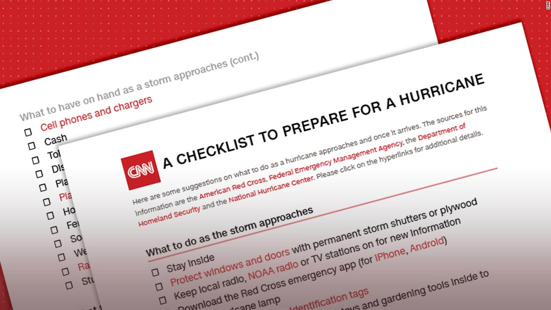hurricane checklist what to do and pack when a storm is