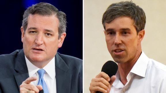 Ted Cruz, left, and Beto O'Rourke