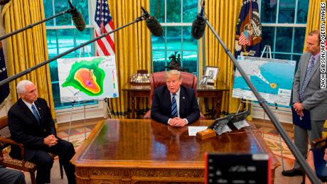Steeling for Hurricane Florence, Trump seeks praise for Maria