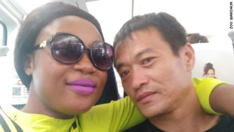 Sandra Made and Zou Qianshun say they are one of five Chinese-African couples in their town in Liaoning province, China.