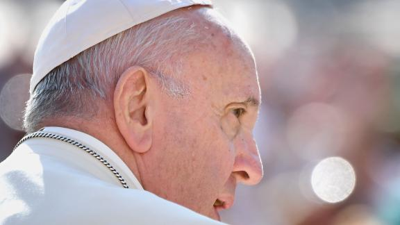 Pope Francis attends his weekly general audience on St. Peter