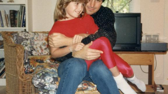Lisa Brennan-Jobs with her father, Steve Jobs, in Palo Alto, California, in 1987.