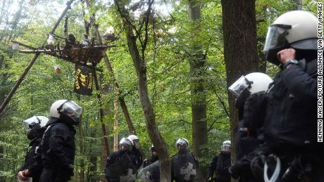 Activists clash with police in Germany over occupation of ancient forest