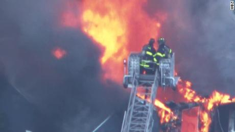 several suspected gas explosions caused fires in massachusetts cnn