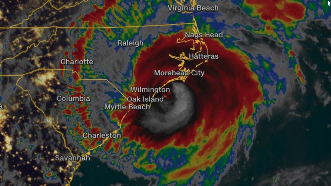 Hurricane Florence pounds the Carolinas as it nears landfall