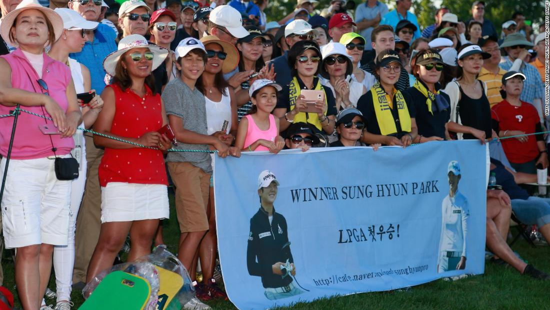 Park has a dedicated fan club in her homeland, who also travel the world to watch her in action. They were at Trump National Golf Club in New Jersey to witness her US Open triumph.