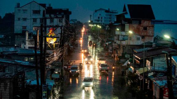 Heavy rain falls in Tuguegarao City on Friday, September 14.