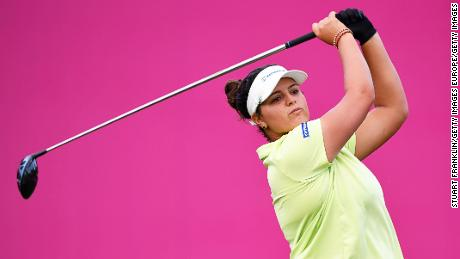 Maria Torres will take a share of the lead into the third day of the Evian Championship.