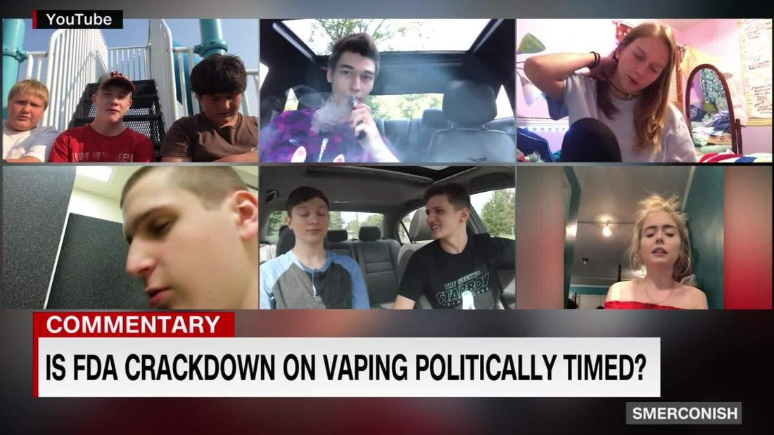 Comment: Is FDA crackdown on vaping politically timed?