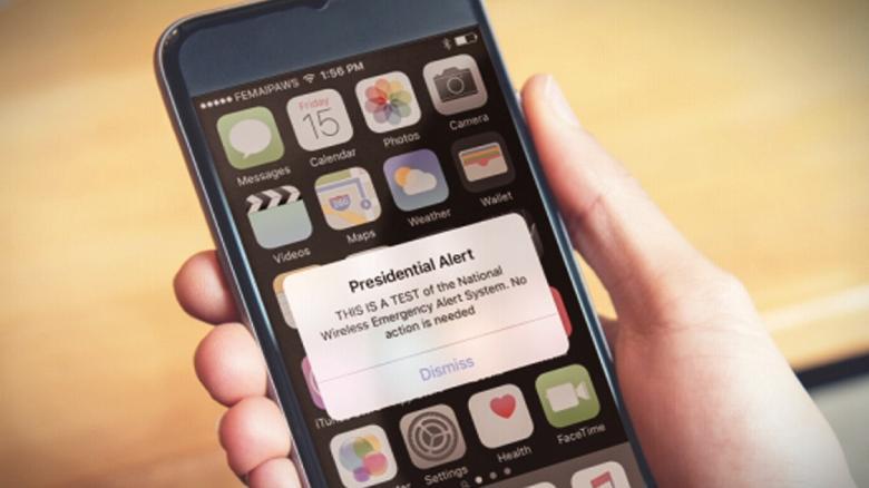 FEMA to test 'Presidential Alert' text system