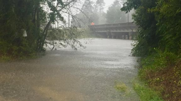 The Lumber River was several feet higher Saturday afternoon than when a CNN crew first observed it that morning.