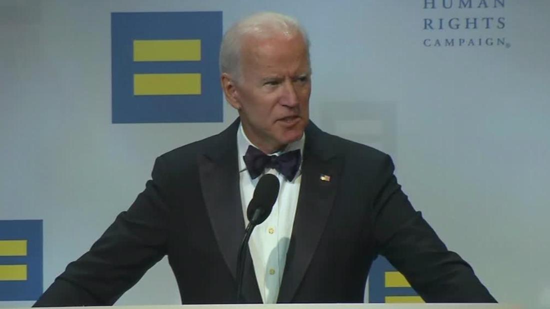 Joe Biden attacks Trump's use of power during LGBTQ dinner speech