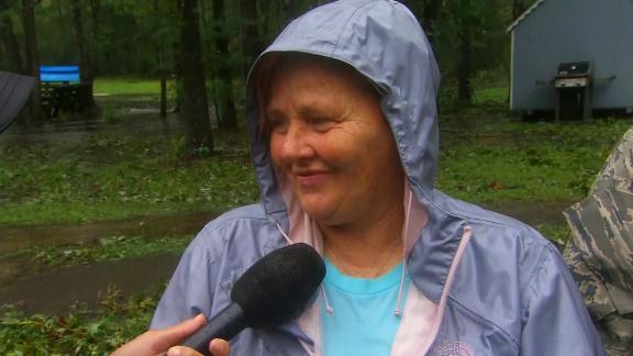 Susan Bostic evacuates her home in Rocky Point, NC.