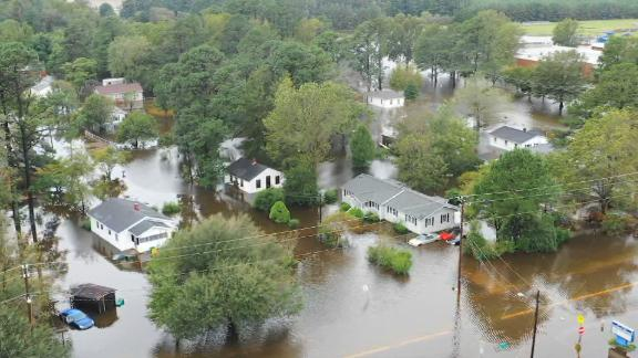 Lumberton, North Carolina, is dealing with post-hurricane flooding for the second time in two years.
