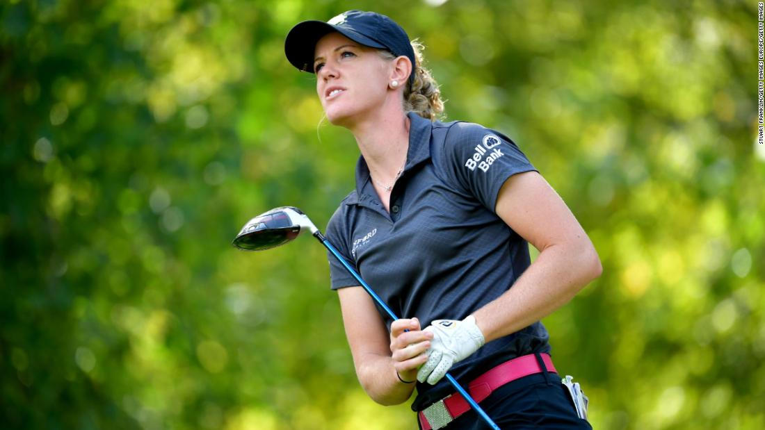 Amy Olson held the lead throughout the final day, but a dramatic double bogey on the 18th -- the last hole of the tournament -- handed Stanford victory.