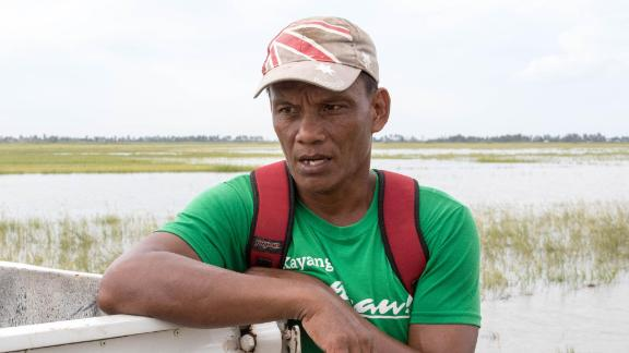 Farmer Rodel Rieta says his yield during this current rice harvest has been more than halved because of flooding caused by Super Typhoon Mangkhut.