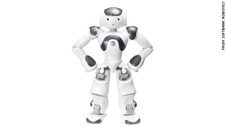 Nao, a robot from Softbanks Robotics, can be programmed to work as an educational tool for children.