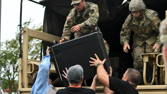 Thanks to the US Army, WCK delivered 1,100 meals Sunday in Columbus County, North Carolina.