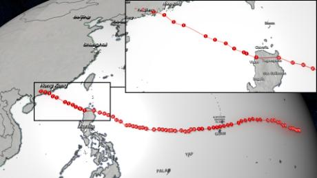 Typhoon Mangkhut's path from September 6 - 17, 2018.