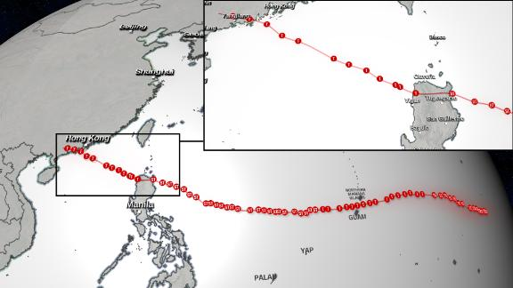 Typhoon Mangkhut's path of destruction, September 6 - 17.