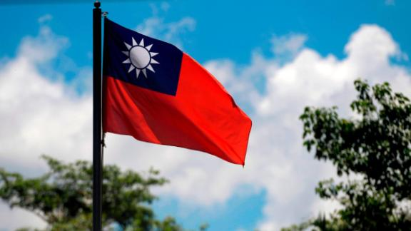 View of the Taiwan flag at the Embassy of Taiwan in San Salvador on August 21, 2018. - China and El Salvador established diplomatic relations Tuesday as the Central American nation ditched Taiwan in yet another victory for Beijing in its campaign to isolate the island. (Photo by MARVIN RECINOS / AFP)        (Photo credit should read MARVIN RECINOS/AFP/Getty Images)