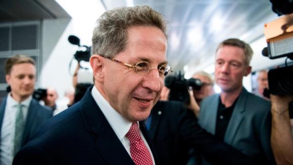 Former spy chief Hans-Georg Maassen arrives for a public hearing in Berlin on September 12.