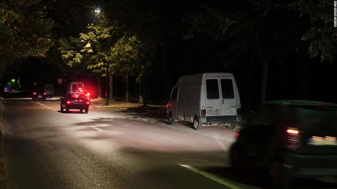 By night, prostitutes work from vans parked at the roadside in the park.