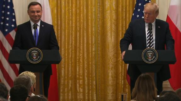 President Trump and Polish President Andrzej Duda.