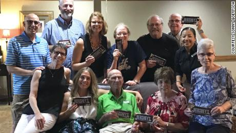 On his 94th birthday, Williams brought chocolate bars as gifts for his friends -- and the staff and customers in the restaurant where they ate.