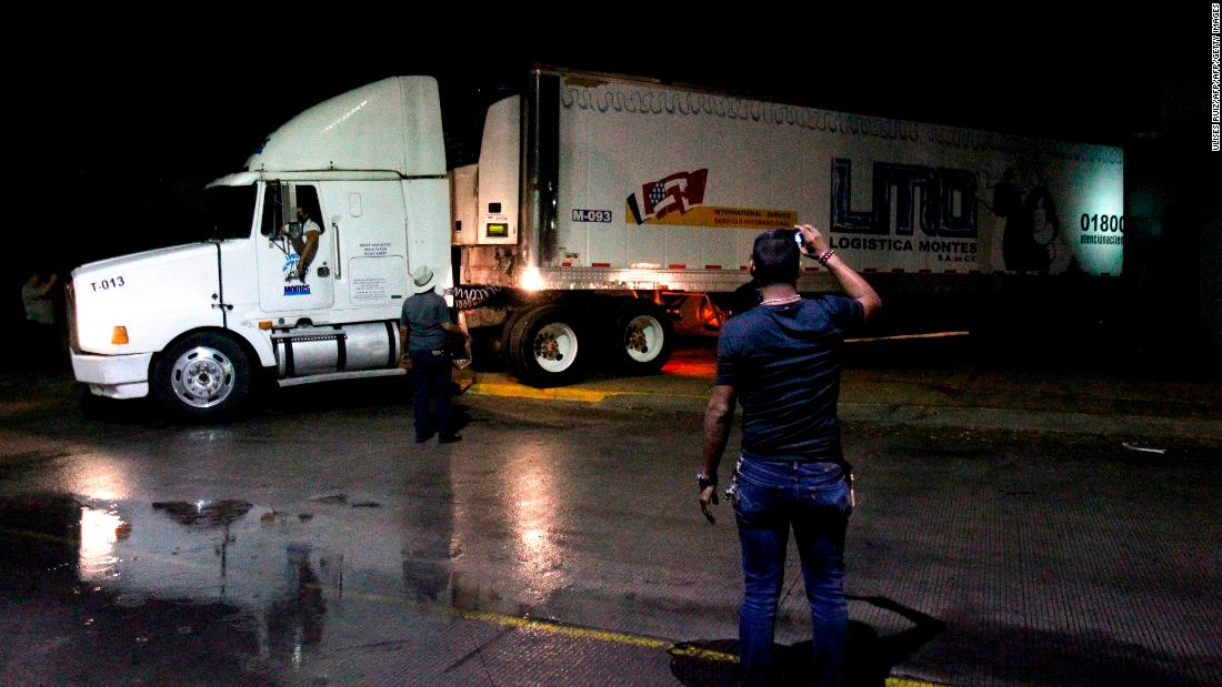 Crime-ridden Mexican state is storing unclaimed bodies in a refrigerated truck
