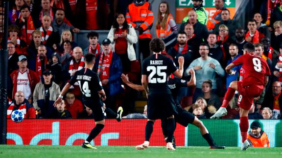 Last season's beaten finalists Liverpool got off to a perfect start against star-studded PSG. Substitute Roberto Firmino (right) rifled in a stoppage time winner. The Brazilian had started the match on the bench after a cringe worthy eye injury but proved the hero in the 3-2 victory.