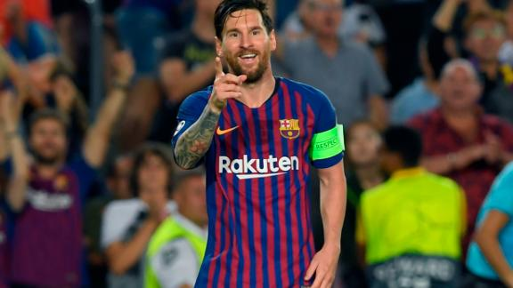 Barcelona captain Lionel Messi scored the first goal of this season's Champions League on his way to his record eighth careeer hat-trick in the competition. was in his usual sensational form. The pinpoint free-kick helped Barca to a 4-0 win over PSV Eindhoven at the Nou Camp.