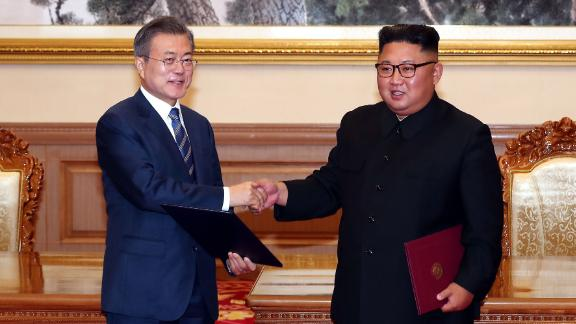 "Moon and Kim teased a potential historic fourth meeting between the two leaders, this time in the South Korean capital. The signed agreement stated that Kim would travel to Seoul ""as soon as possible,"" something no North Korean leader has ever done."