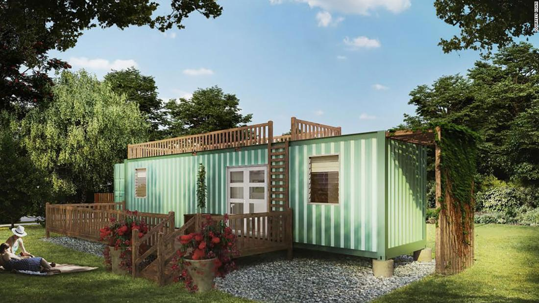 HiveCube's vision is to turn a shipping container into a home.