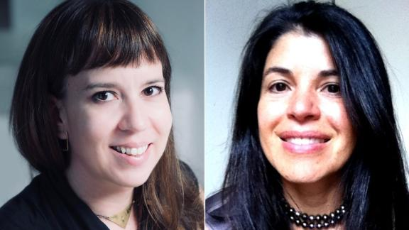 Alejandra Castrodad-Rodriguez (L) and Cristina Roig-Morris (R) of Resilient Power PR are partnering with community leaders in Puerto Rico to build a future that includes renewable energy sources.