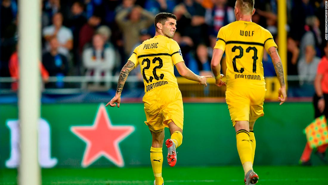 There was late drama in Borussia Dortmund's game against Club Brugge. The German visitors had been frustrated for much of the match but found a winner through Christian Pulisic in the 85th minute.