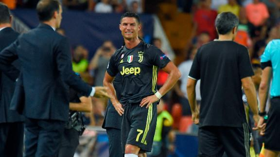 Ronaldo left the field with tears in his eyes after being sent off during his Champions League debut for Juventus in Valencia. The Portugal star feared he would miss his return to former club Manchester United, but was given just a one-match ban.