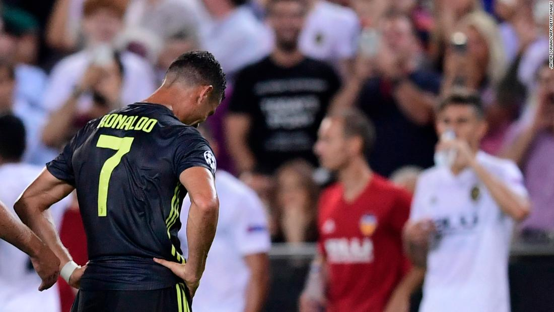 Ronaldo was sent off after a clash with Valencia's Jeison Murillo and is set to miss Juve's next three games in the competition.