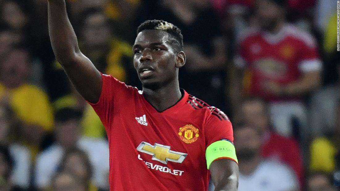 Manchester United's French midfielder Paul Pogba scored a double as the EPL giant eased past Young Boys 3-0 in Bern.