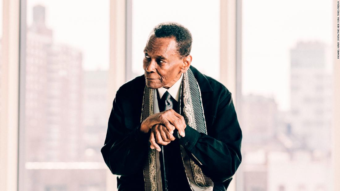Mitchell poses for a portrait in December 2017, at the Lenfest Center for the Arts in New York.