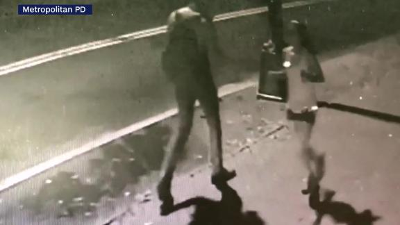 This still image taken from surveillance footage shows Wendy Martinez running the night of her death.