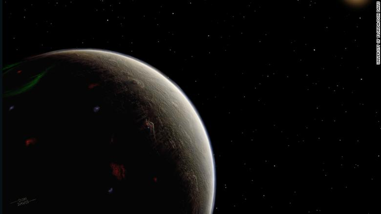 An artist's illustration of what the super-Earth found around the orange-hued star HD 26965 (also known as 40 Eridani A) might look like. The recently discovered exoplanet is being compared to the fictional planet of Vulcan because Star Trek creator Gene Roddenberry said the star was the ideal candidate to host Vulcan, Mr. Spock's home world.