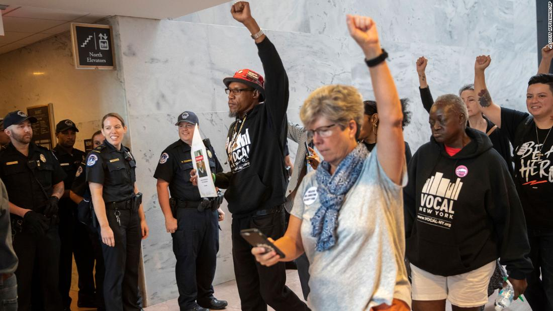 Protesters arrested on Capitol Hill after Senate office demonstrations