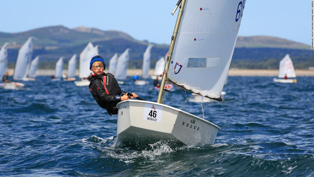 "Andy Green photographed a young sailor racing at the Optimist Nationals in Pwllheli, Wales. ""I love this image as it shows the concentration of the child's face,"" he says."