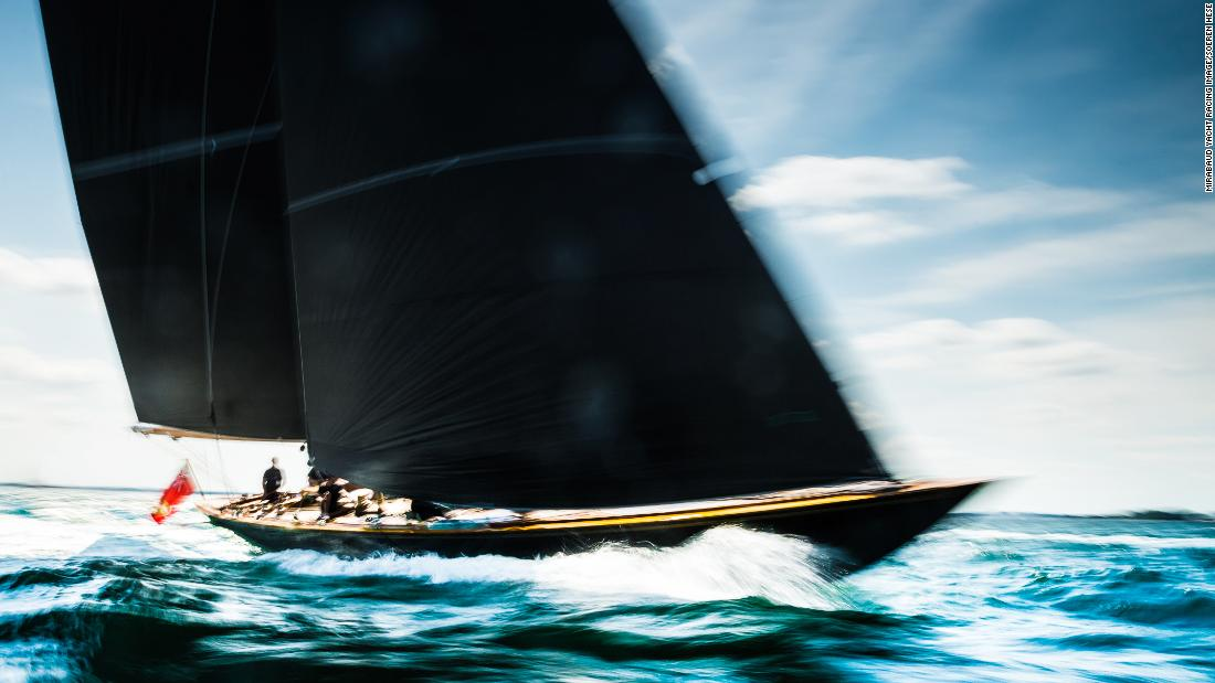 Sören Hese captured a traditional-style boat soaring through the Baltic Sea during the German Classics regatta.