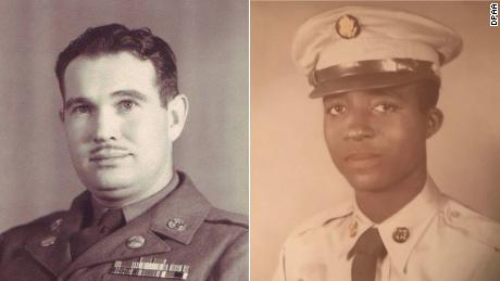 The US identified the remains of two American soldiers, Army Master Sgt. Charles H. McDaniel, left and Army Pfc. William H. Jones, right.
