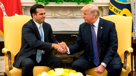 Puerto Rico Governor Ricardo Rosselló was hesitant to criticize President Trump or the federal response in the weeks after Hurricane Maria.
